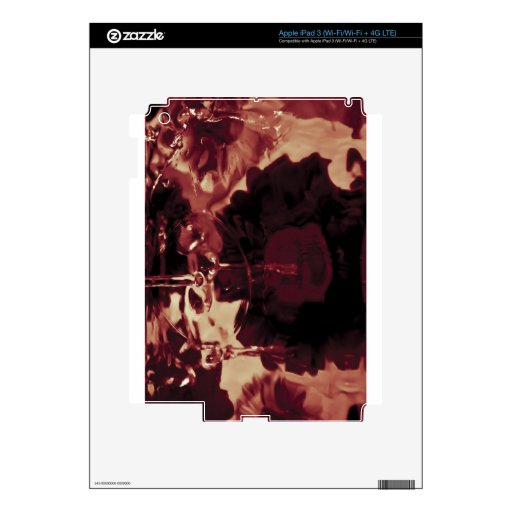 Fotografía abstracta del agua pegatinas skins para iPad 3