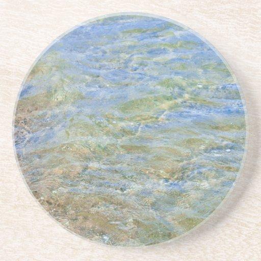 Fotografía abstracta del agua posavasos personalizados