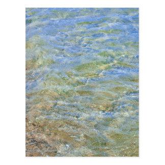 Fotografía abstracta del agua postales