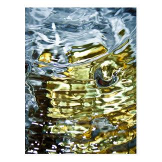 Fotografía abstracta del agua tarjeta postal