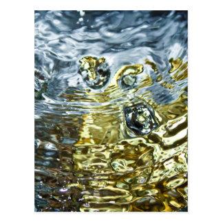 Fotografía abstracta del agua postal