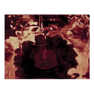 Fotografía abstracta del agua tarjetas postales