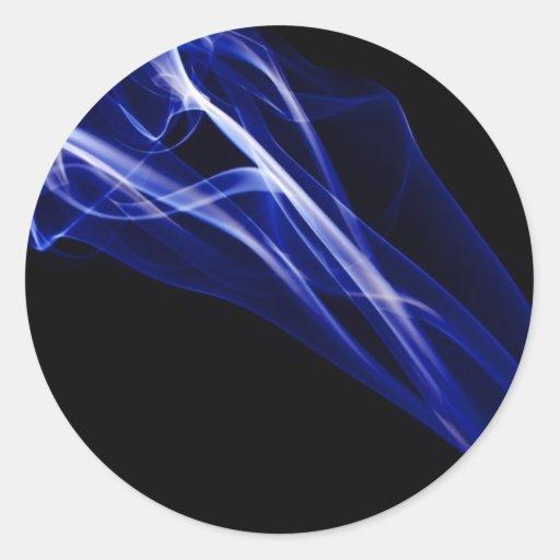 Fotografía abstracta del arte del humo pegatina redonda