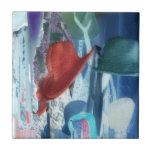 Fotografía abstracta - gorras sesgados con la fron azulejos cerámicos