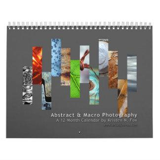 Fotografía abstracta y macra calendarios