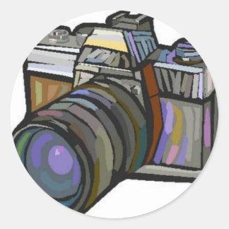 Fotografia Adesivos Em Formato Redondos