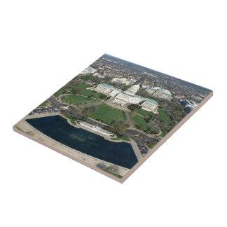 Fotografía aérea 2 de Capitol Hill Azulejo Cuadrado Pequeño