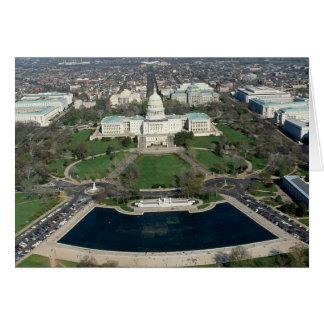 Fotografía aérea 2 de Capitol Hill Tarjeta De Felicitación