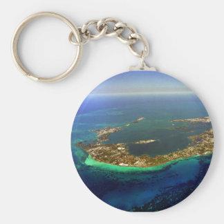 Fotografía aérea de Bermudas Llavero Redondo Tipo Pin