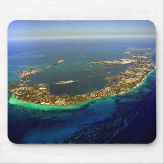 Fotografía aérea de Bermudas Alfombrilla De Raton