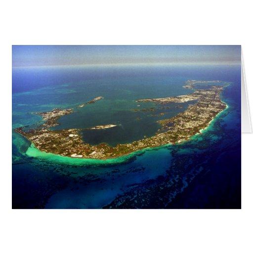 Fotografía aérea de Bermudas Tarjeta De Felicitación