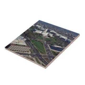 Fotografía aérea de Capitol Hill Azulejo Cuadrado Pequeño