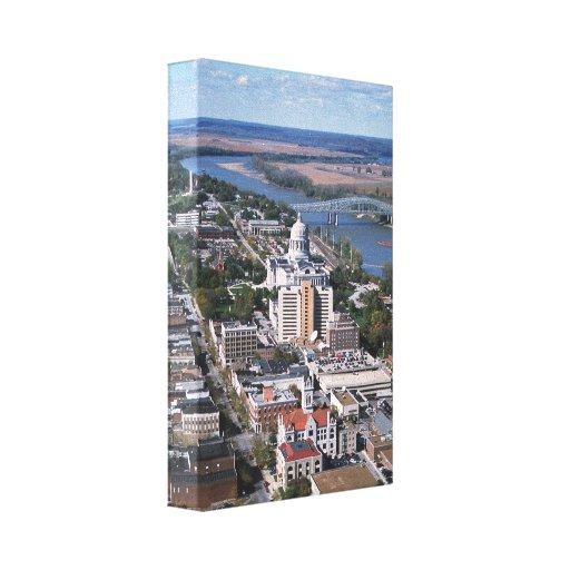 Fotografía aérea de jefferson city impresión en tela