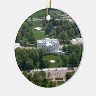 Fotografía aérea de la Casa Blanca Ornamento Para Arbol De Navidad