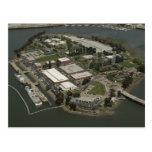 Fotografía aérea de la isla del guardacostas postal