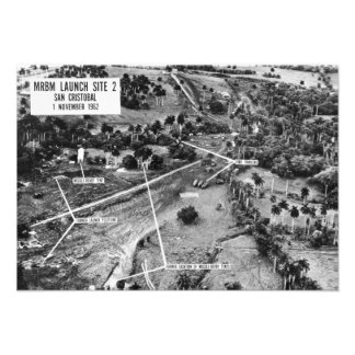Fotografía aérea de misiles en Cuba 1962 Invitación