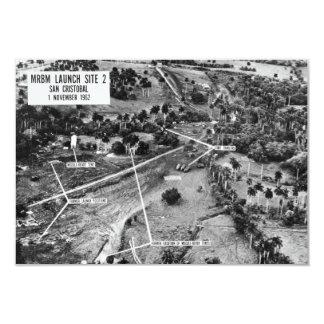 """Fotografía aérea de misiles en Cuba 1962 Invitación 3.5"""" X 5"""""""