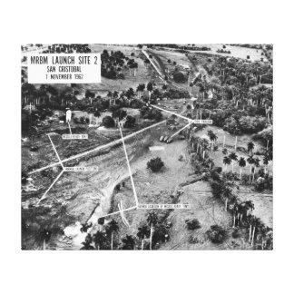 Fotografía aérea de misiles en Cuba 1962 Lona Estirada Galerías