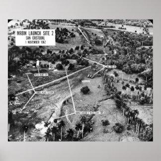 Fotografía aérea de misiles en Cuba 1962 Impresiones