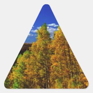 Fotografía americana de la naturaleza de la pegatina triangular