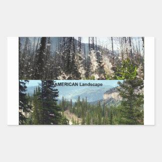 Fotografía americana del paisaje pegatina rectangular
