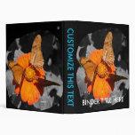 Fotografía anaranjada de las mariposas de la flor