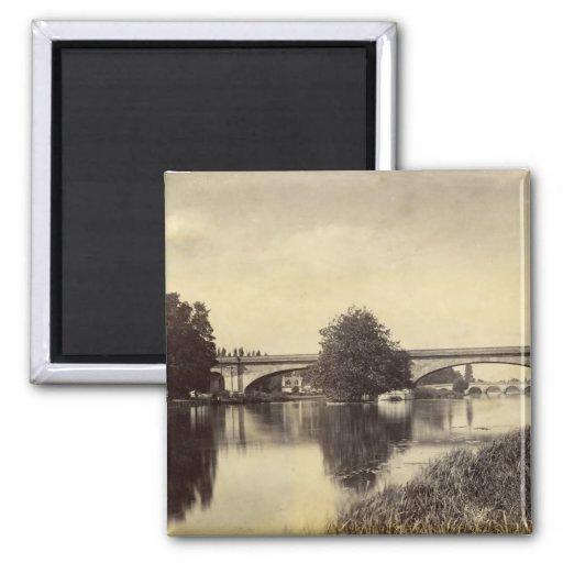 Fotografía antigua del puente ferroviario de Maide Imanes