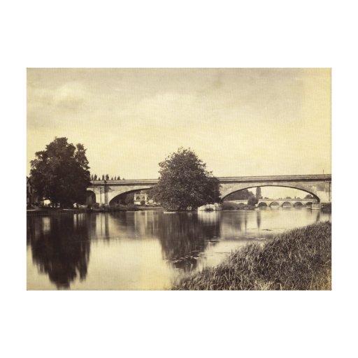 Fotografía antigua del puente ferroviario de Maide Impresión De Lienzo