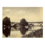 Fotografía antigua del puente ferroviario de postal