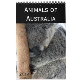 fotografía australiana 2014 de los animales calendarios