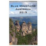 fotografía azul 2015 de las montañas calendarios de pared