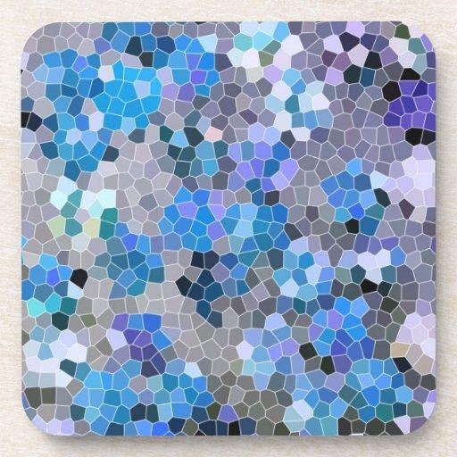 fotografía azul de la teja de mosaico del corcho d posavasos