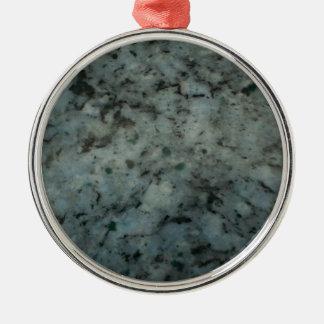Fotografía azul de la textura del granito ornamento para arbol de navidad