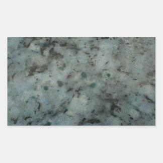 Fotografía azul de la textura del granito pegatina rectangular