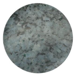 Fotografía azul de la textura del granito platos