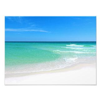 Fotografía blanca de la playa impresion fotografica