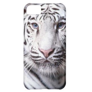 Fotografía blanca del tigre de Bengala Funda Para iPhone 5C