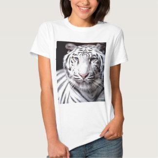 Fotografía blanca del tigre de Bengala Poleras