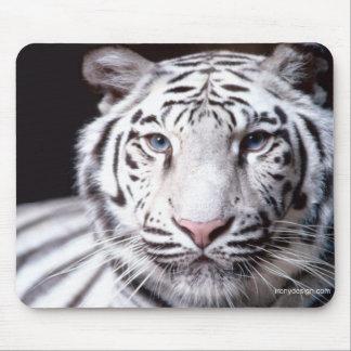 Fotografía blanca del tigre de Bengala Tapete De Ratones