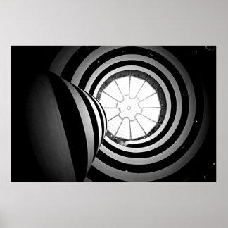 Fotografía blanco y negro de Guggenheim Póster