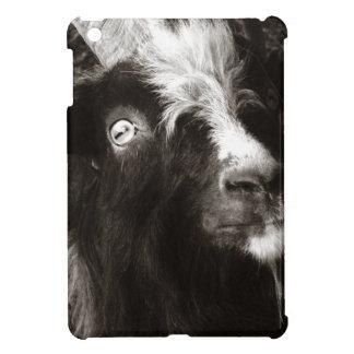 Fotografía blanco y negro de la cabra de Bagot iPad Mini Carcasa