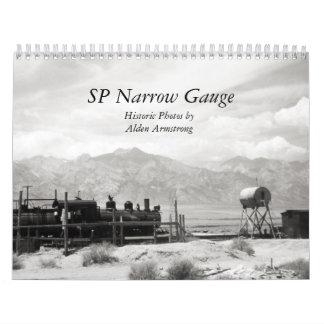 Fotografía blanco y negro del indicador estrecho calendario de pared