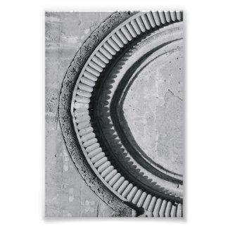 Fotografía C4 4x6 blanco y negro de la letra del Impresión Fotográfica