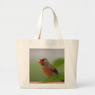 Fotografía cardinal femenina bolsa de tela grande