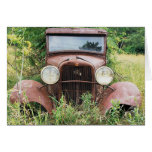 Fotografía clásica del cubo del moho del coche del felicitación