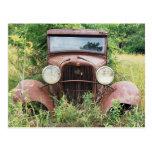 Fotografía clásica del cubo del moho del coche del tarjetas postales
