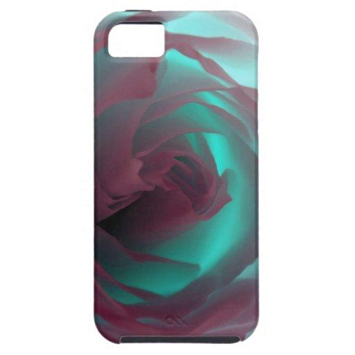 Fotografía color de rosa de neón iPhone 5 funda