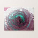 Fotografía color de rosa de neón puzzle con fotos