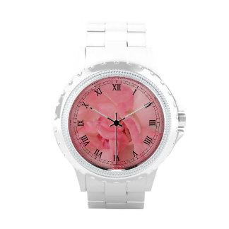 Fotografía color de rosa rosada reloj