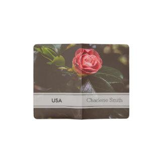 Fotografía color de rosa rosada retra, romántico, funda para libreta y libreta pequeña moleskine